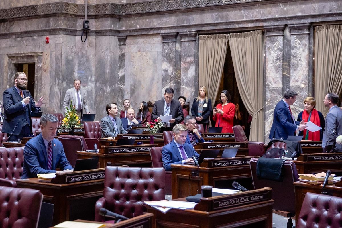 The Washington State Senate convenes for floor session - Feb. 19, 2020