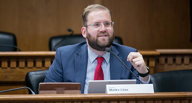Sen. Marko Liias in committee