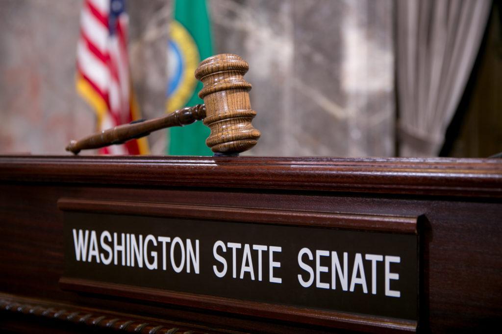 Washington State Senate Rostrum with Gavel